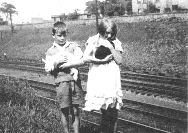 Children With Pet Rabbits At Craigentinny Railway Embankment c.1937