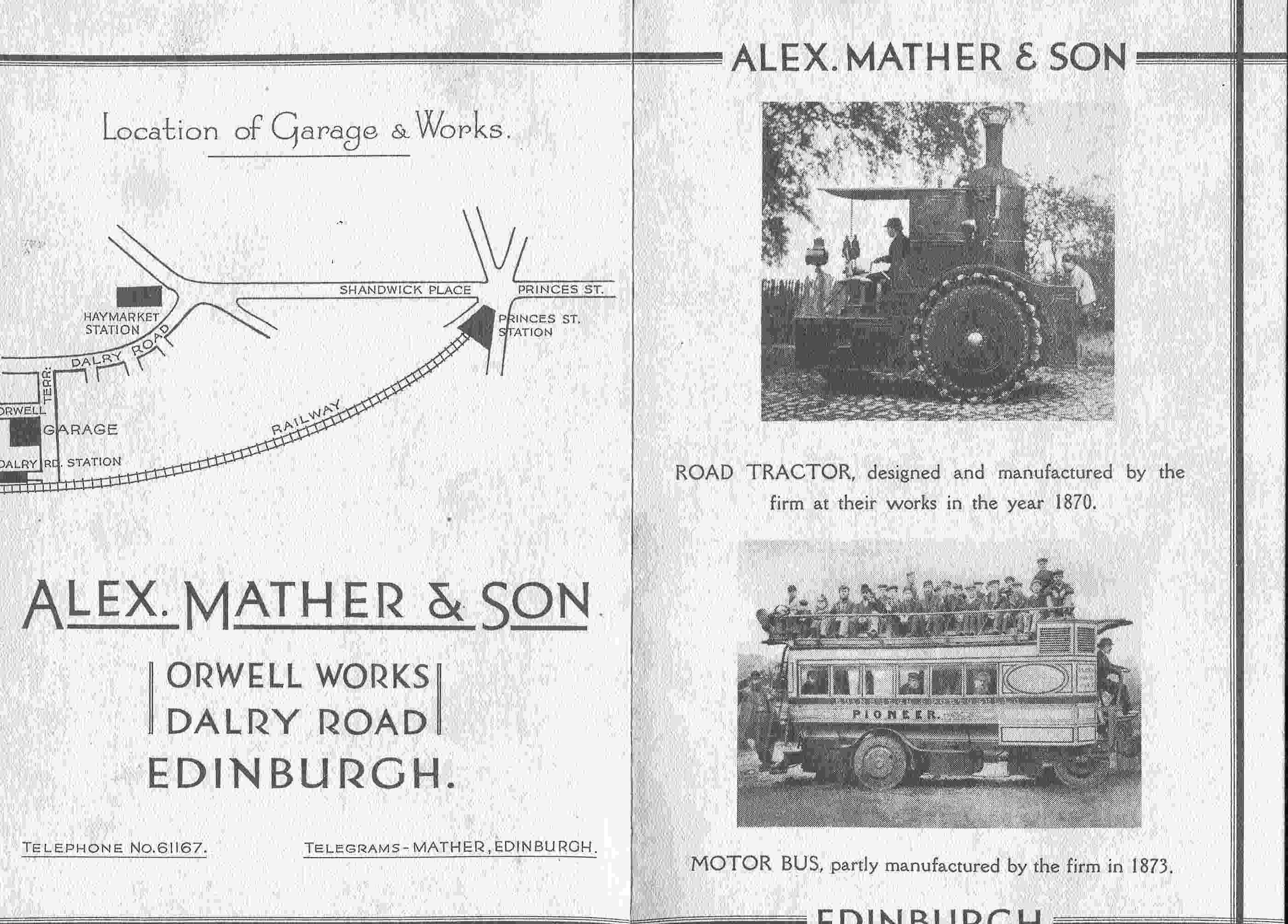 Alex Mather & Son Product And Services Leaflet c.1930