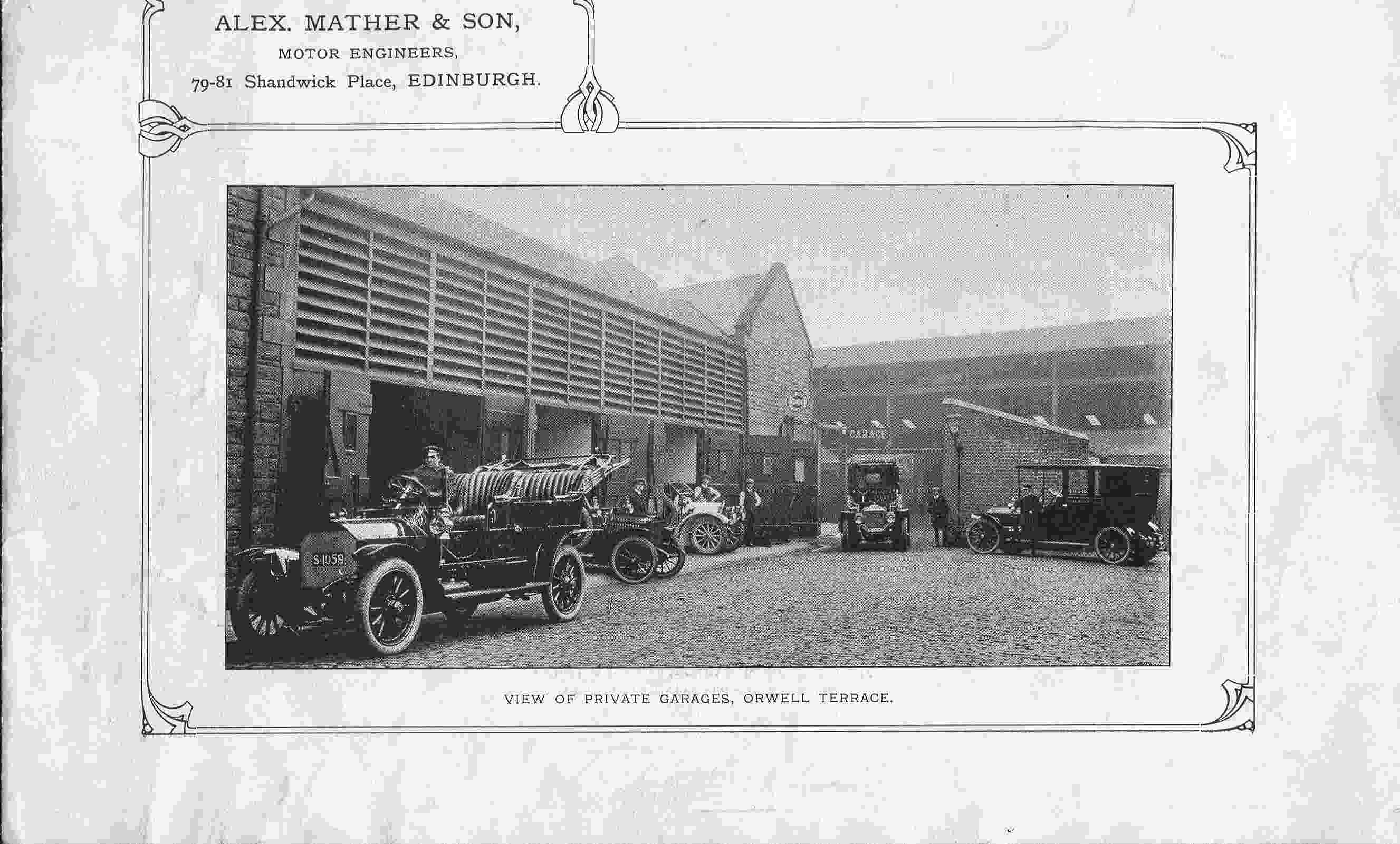Alex Mather & Son, View Of Private Garages, Orwell Terrace 1920s