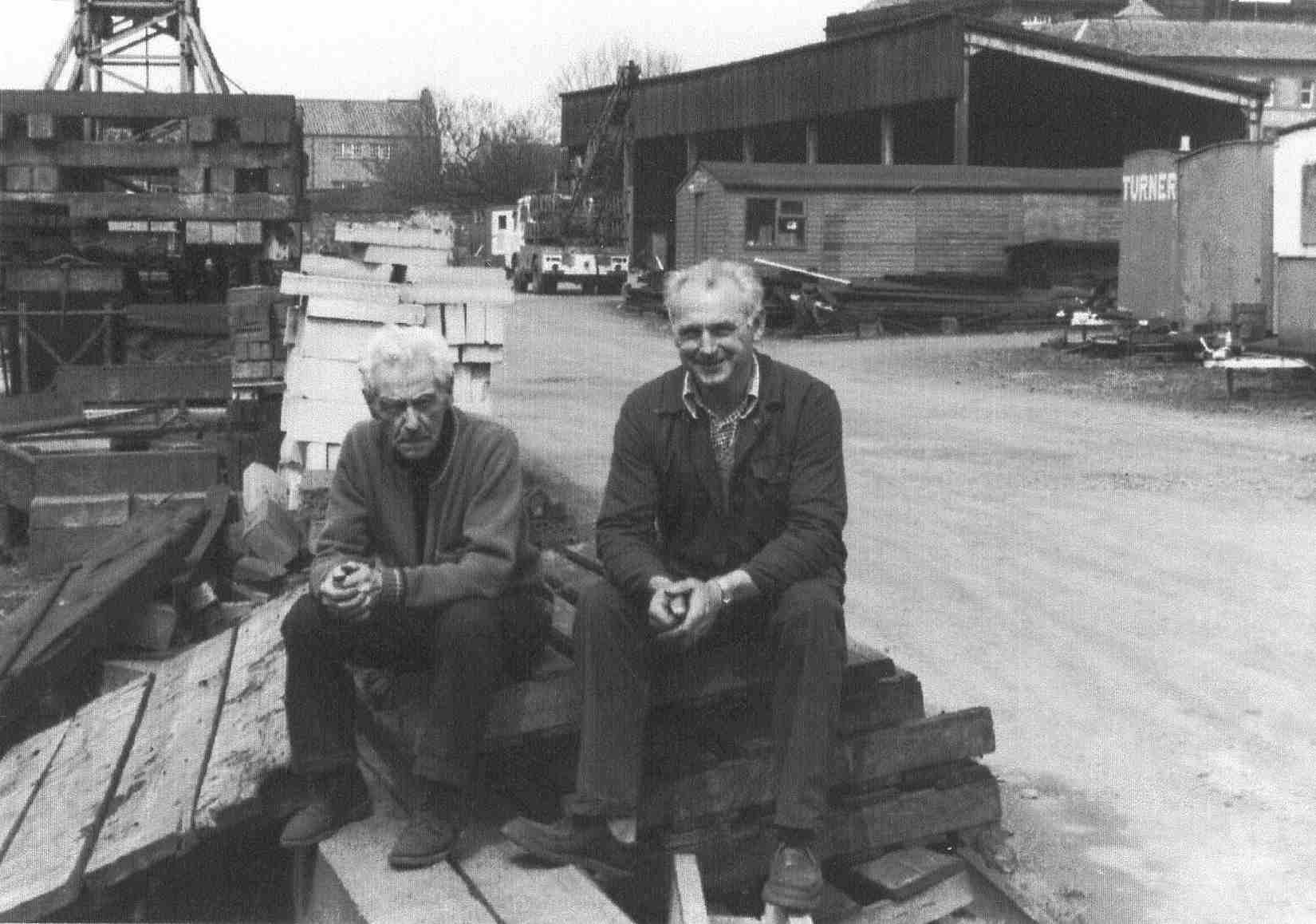 Two Men Taking Pause From Work At AM Carmichael's In Halmyre Street 1970s