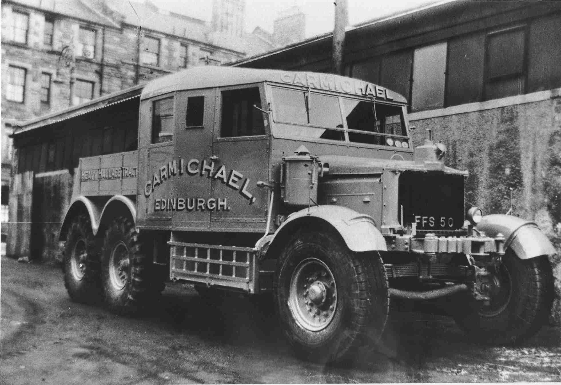 Scammell Truck At AM Carmichael's 1950s