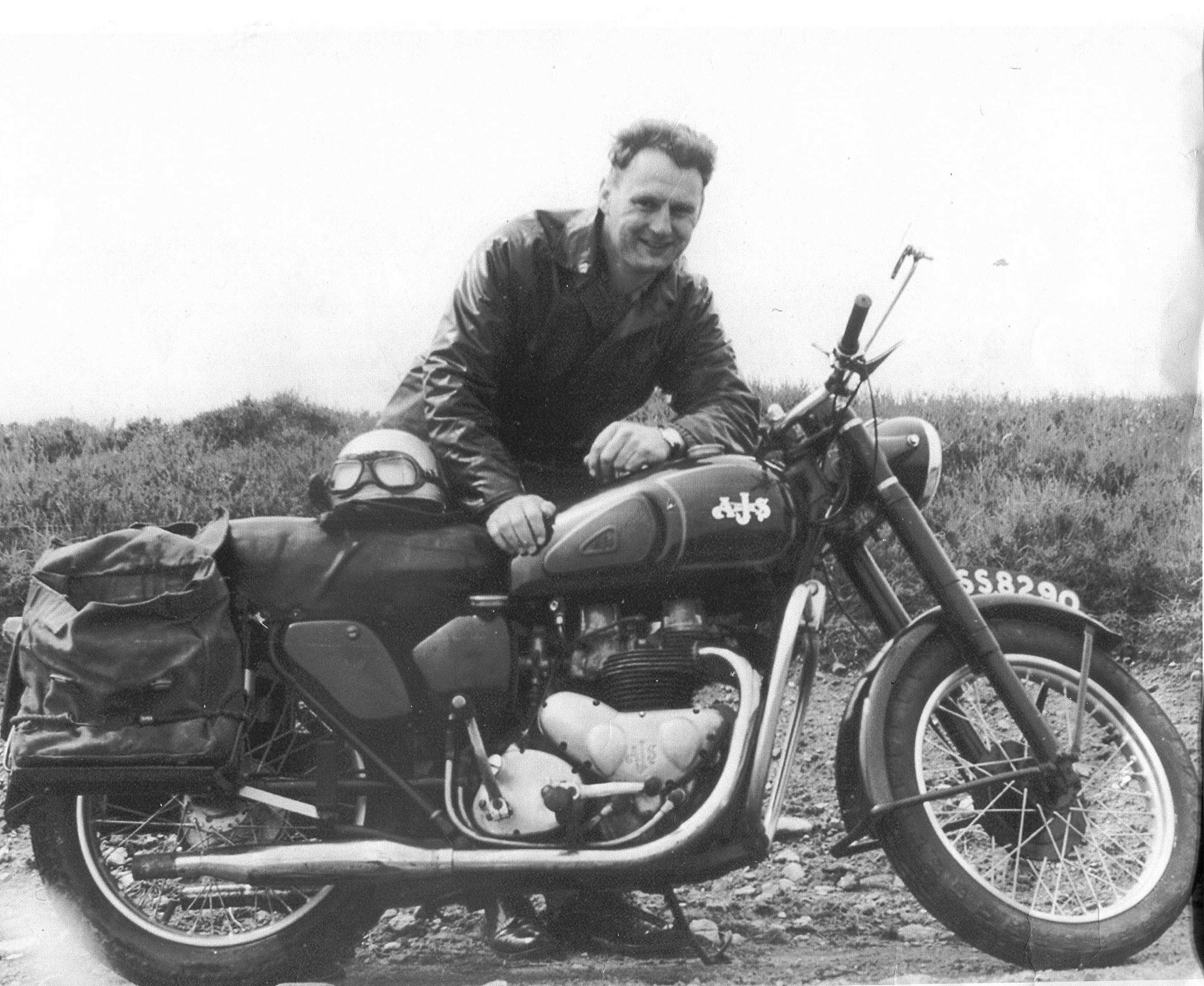 Man With Motorbike 1960s