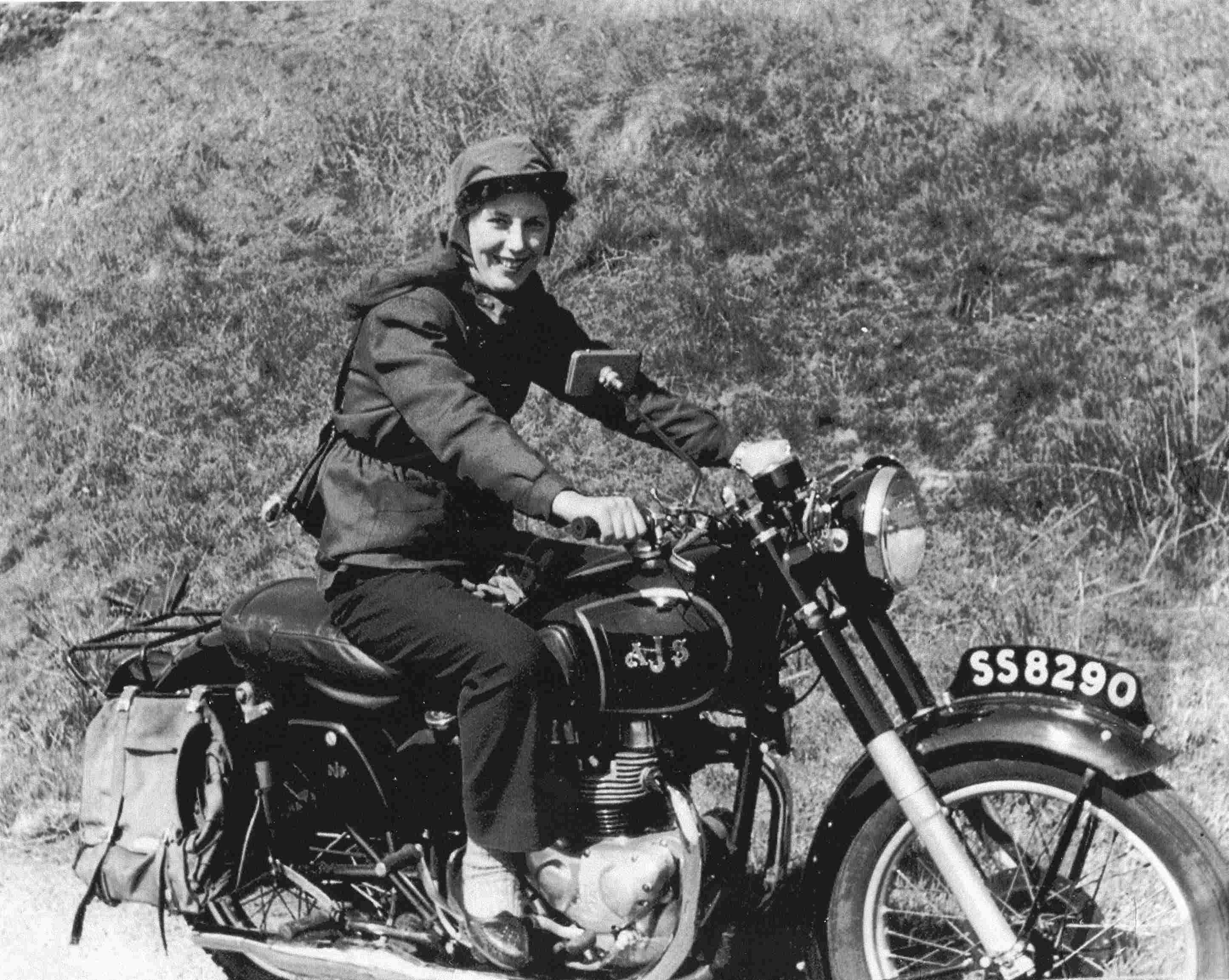 Woman Riding Motorbike 1960s