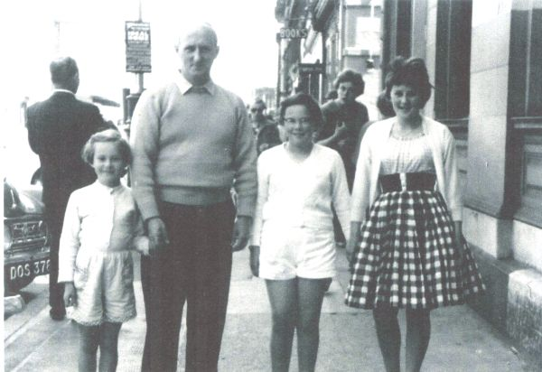 Family Walking In Sandgate While On Holiday In Ayr c.1960