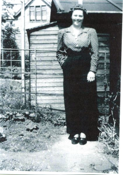 Young Woman Standing By Shed In Back Garden At Lilyhill Terrace c.1935