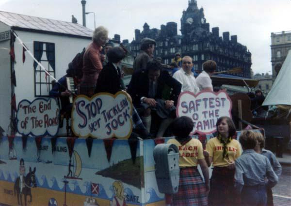 Portobello Float At The Edinburgh Festival Cavalcade, August 1980