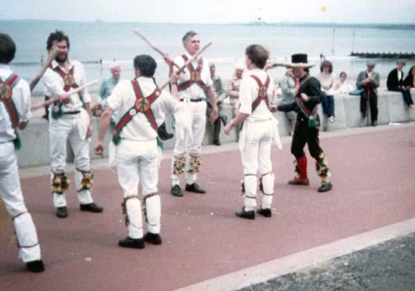 Morris Dancers On Portobello Promenade 1984