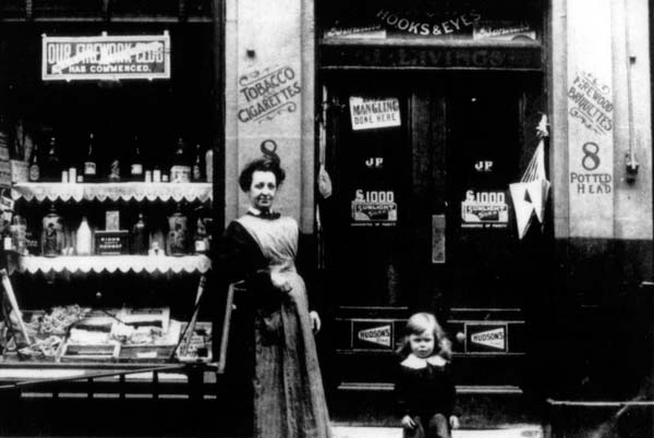 The Livings Family Shop On Fettes Row c.1912
