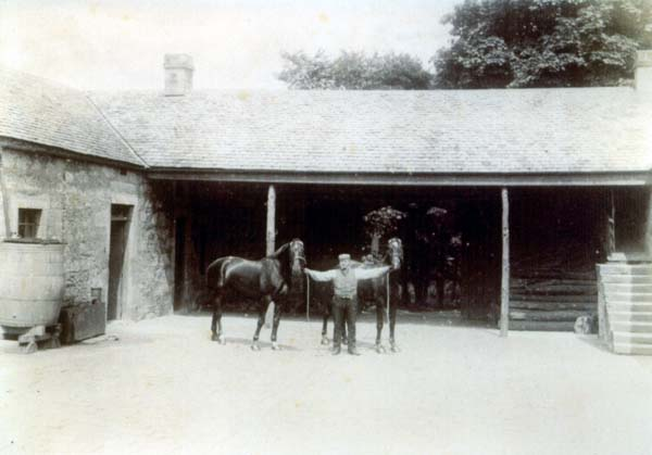 Coachman With Horses At South Bantaskine c.1890