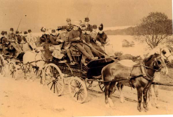 Victorian Picnic Party En Route 1890s