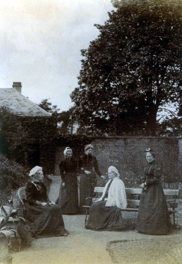 Victorian Ladies At Leisure In The Walled Garden At South Bantaskine c.1880
