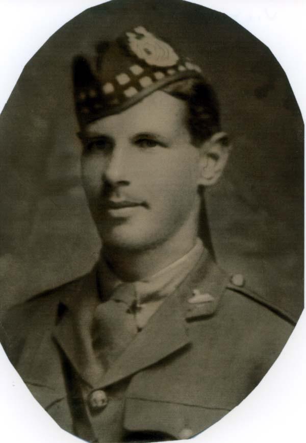 Studio Portrait Young Officer Gordon Highlanders 1918