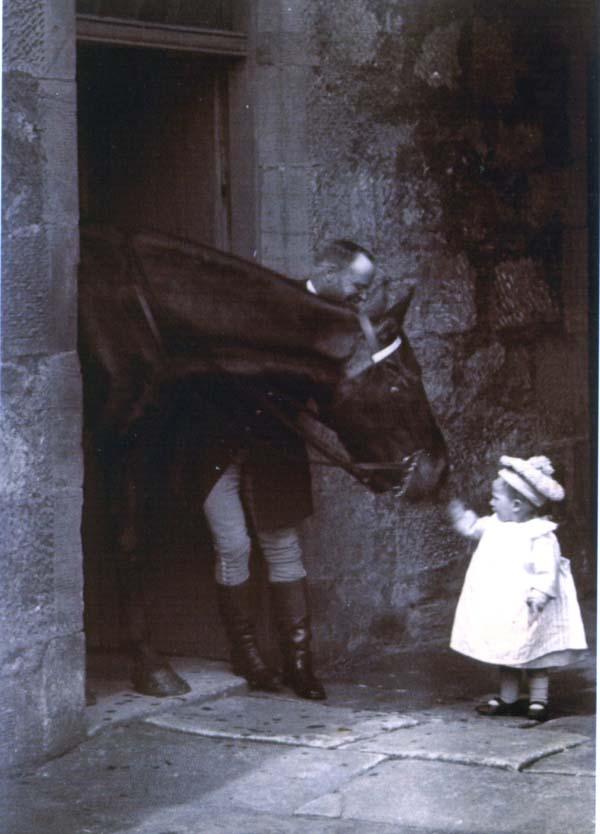 Young Boy Greeting Horse At South Bantaskine Stables c.1890