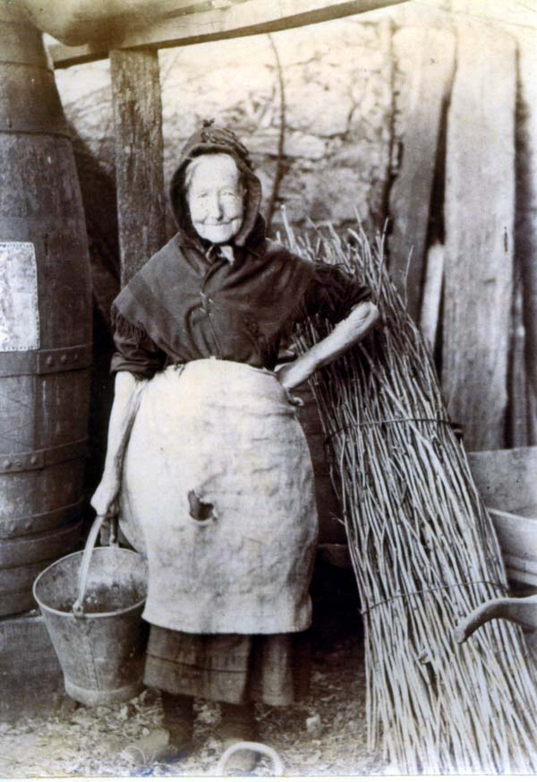 Henwife With Bucket At South Bantaskine c.1890