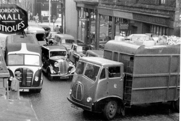 Traffic On Rose Street, Dec 1957