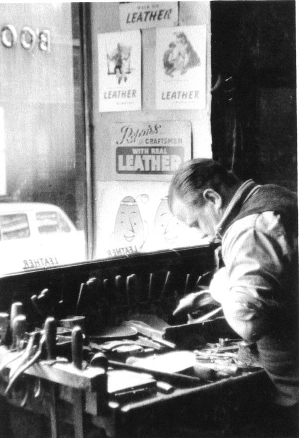 Leather Worker In Rose Street Shop, Dec 1957