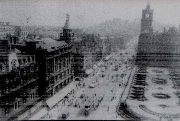 Princes Street From Scott Monument Looking East, early 1950s