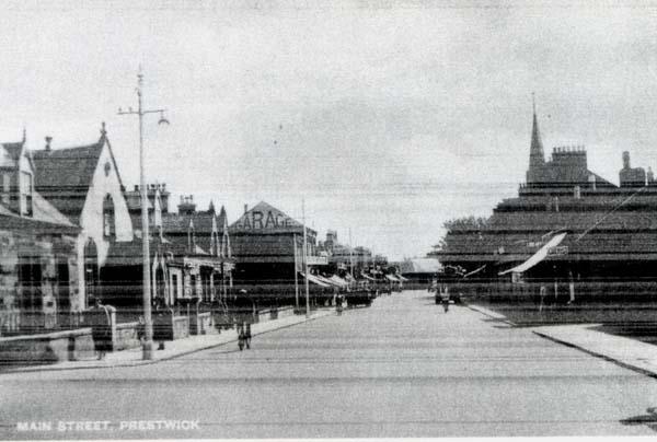 Postcard Prestwick Main Street 1950s