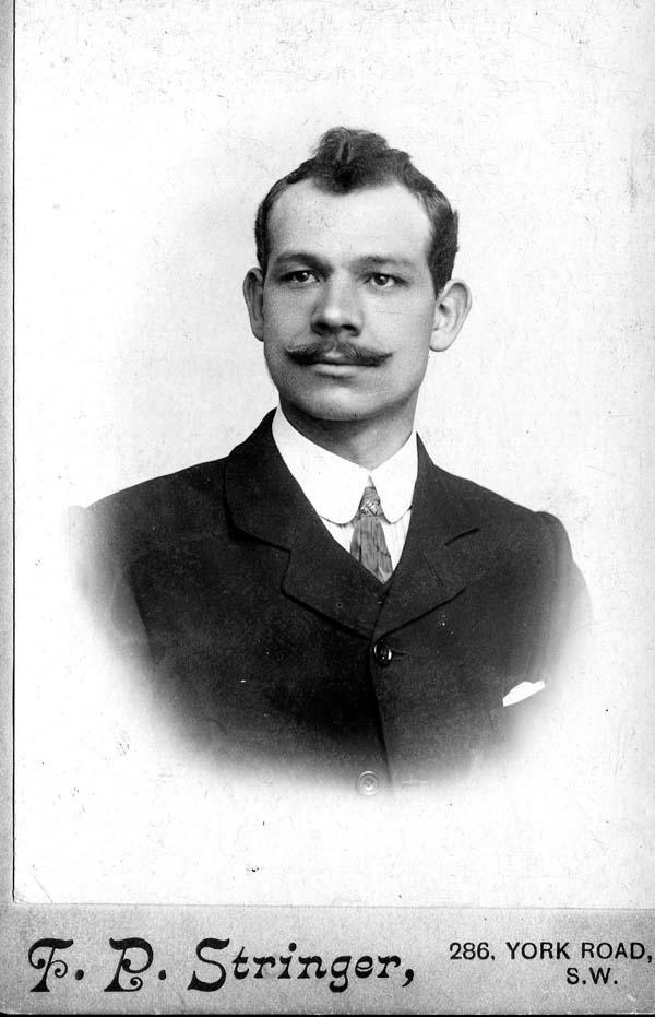 Studio Portrait Young Man 1900