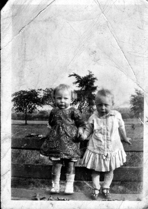 Two Toddlers Standing On Bench At Leith Links 1925