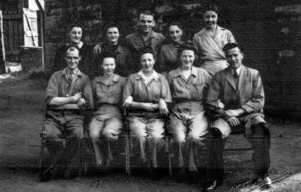 Munitions Workers In Workyard Under The Viaduct At Slateford c.1943
