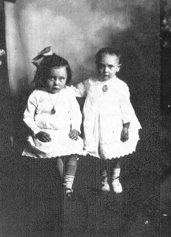 Studio Portrait Two Young Sisters 1924