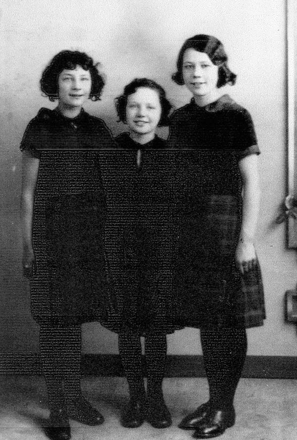 Studio Portrait Three Sisters 1931