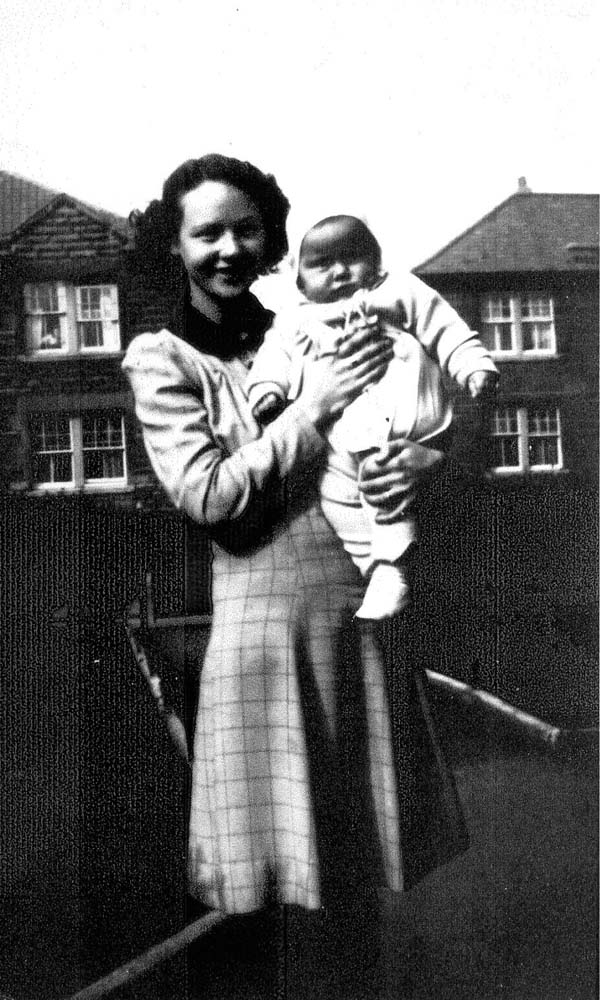 Young Mother With Her Baby Son Standing In Garden At Lochend Avenue 1947