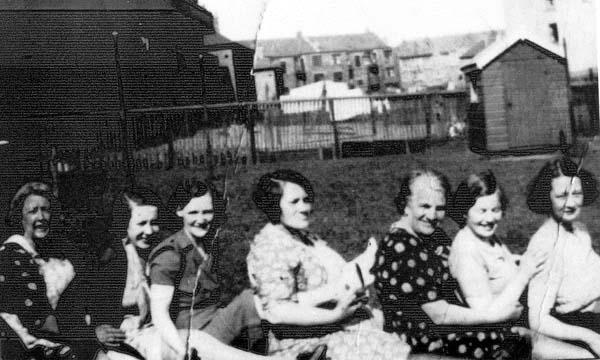 Women Larking About In A Garden At Lochend Avenue c.1938