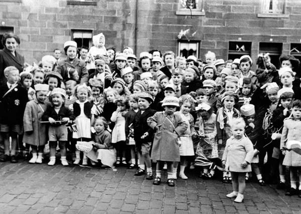Queen's Coronation Street Party in Portland Place 1953