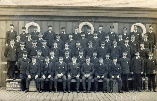 Leith Dock Commission Dockmaster Staff 24 Oct 1911