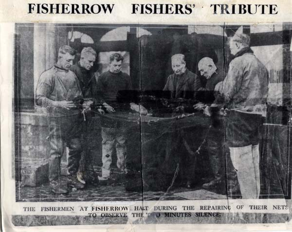 Fisherrow Fishermen Observing Two Minute Silence 1930s