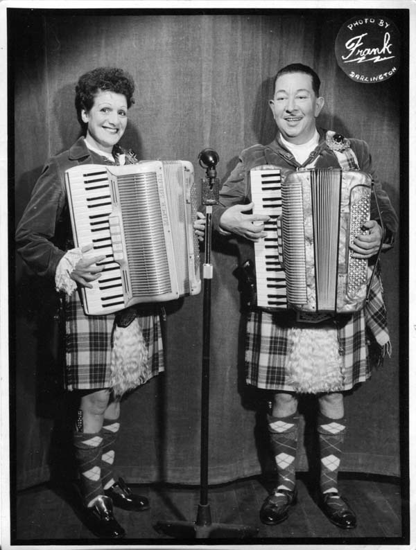 Publicity Photograph Of Mackenzie Reid and Dorothy 1950s