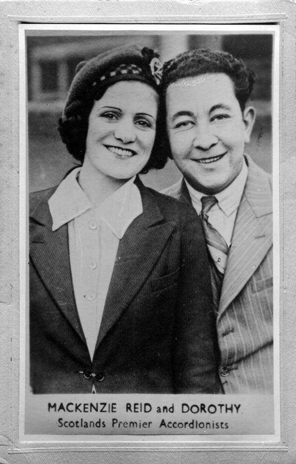 Publicity Card Of Mackenzie Reid and Dorothy 1950s