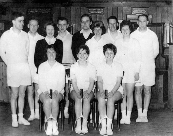 Badminton Players At The Scottish Equitable Corn Exchange c.1962