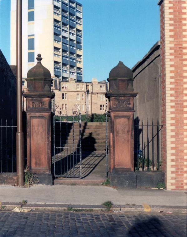 Remains Of Couper Street School Entrance Gate And Pillars c.1996