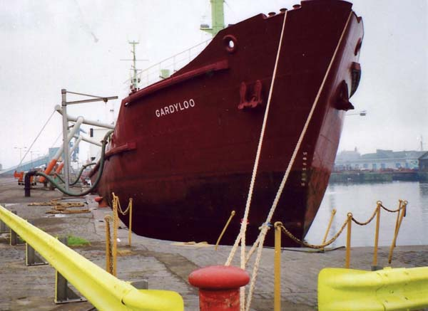 The 'Gardyloo' Sewage Ship At Leith Docks 1980s