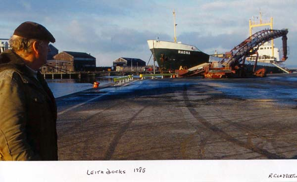 Transport Ship At Leith Docks 1985
