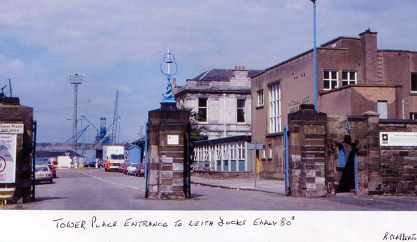 Tower Place Entrance to Leith Docks 1980s