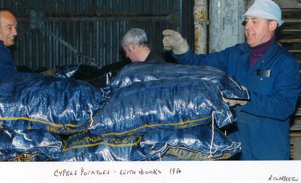 Offloading Cyprus Potatoes 1984