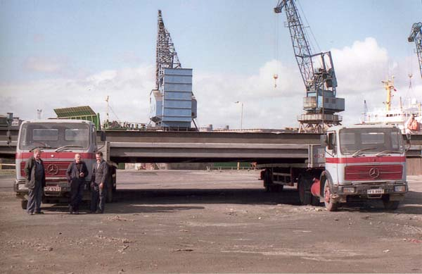 Jimmy Mitchell Haulage Lorries At Leith Docks 1980s