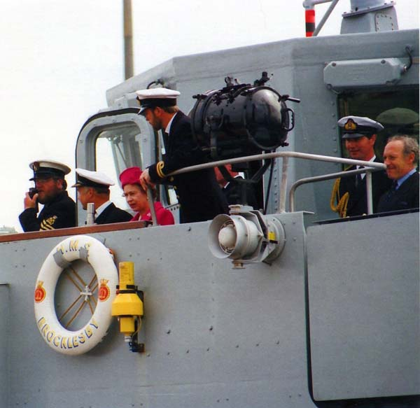The Queen Arriving For Tour Of Leith Docks 27 June 1988