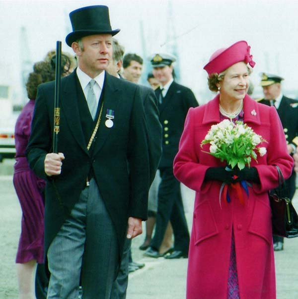 The Queen Visiting Leith Docks 27 June 1988