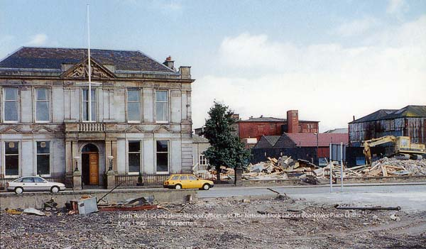 Forth Ports HQ And Demolition Of The National Dock Labour Board Offices, early 1990s