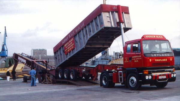 Loading Barley Into Hold Of Ship At Leith Docks 1986