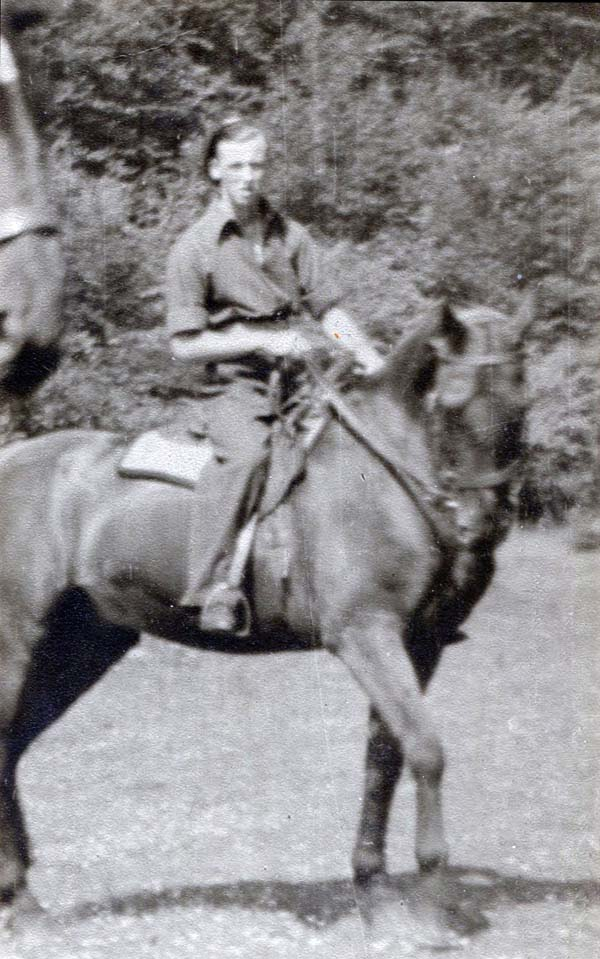 Man, Likely A Soldier, On Horseback 1940s