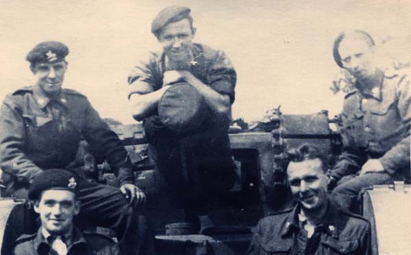 Soldiers On Top Of Tank 1940s