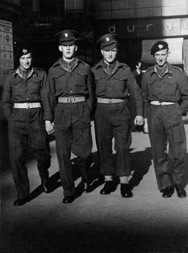 Four Soldiers Off Duty 1940s