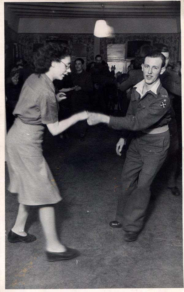 Soldier And Servicewoman Dancing 1940s