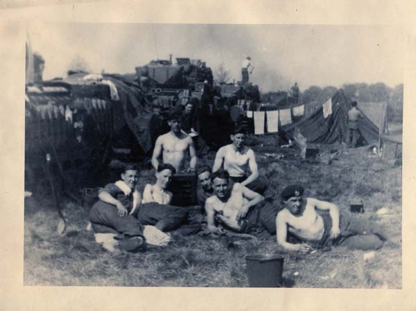 Soldiers Resting At Make-Shift Camp 1940s